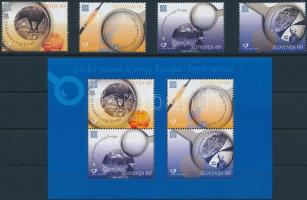 50th anniversary of Europe CEPT set + block, 50 éves az Europa CEPT sor + blokk