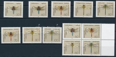 Dragonfly set + block of 4, Szitakötő sor + négyestömb