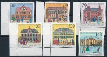 Postal bulidings set, Posta épületek sor