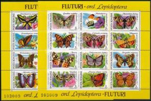 Butterflies blockset, Lepkék blokksor