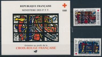 Red Cross set + 1 stamp-booklet, Vöröskereszt sor + 1 bélyegfüzet