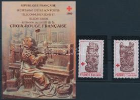 Red Cross set +  stamp-booklet, Vöröskereszt sor +  bélyegfüzet