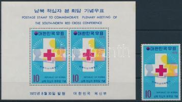 Red Cross + block, Vöröskereszt + blokk