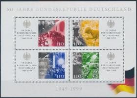 50th anniversary of Federal Republic of Germany block, 50 éves a Német Szövetségi Köztársaság blokk