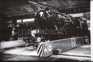 Villamos-, mozdonyjavító vállalat, 10 db fotónegatív, 3,5×4 cm