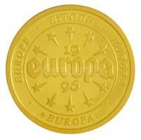 1996. Európa - Franciaország Au emlékérem (3,11g/0.585/20mm) T:PP  1996. Europe - France Au commemorative medallion (3,11g/0.585/20mm) C:PP