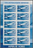 2006 Airbus A380 kisív eredeti dísz csomagolásban, Airbus A380 mini sheet in original decorative holder Mi 4110
