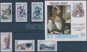 Dürer set + block, Dürer sor + blokk