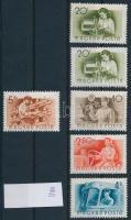 1955 37 db Munka bélyeg, vegyes jó vízjelekkel (26.400)