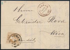 1869 15kr ajánlott levélen AGRAM - Wien Sign: Bolaffi