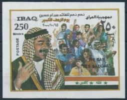 2000 Saddam Hussein blokk, block Mi 92