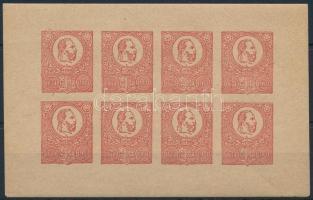 1921 50 éves a Kőnyomat bélyeg fogazatlan piros emlékív (pici ránc)