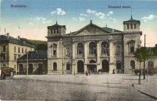Pozsony, Pressburg, Bratislava; Zeleznicná stanica / vasútállomás / Bahnhof / railway station (EK)