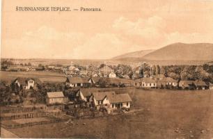 Stubnyafürdő, Túróchévíz, Stubnianske Teplice, Turcianske Teplice; Panorama / látkép / general view