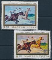 1979 Állatfestmények 1 Ft nyomdailag bélyegzett bélyeg citromsárga színnyomat nélkül. Certificate: Glatz