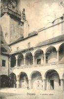 Pozsony, Pressburg, Bratislava; Városház udvara, kerékpárok / courtyard of the town hall, bicycles (fl)