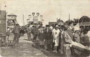 1926 Pozsony, Pressburg, Bratislava; Vidámpark, óriáskerék. Benkau kiadása / Veletrh-Prater / Messeprater / amusement park, ferris wheel (fa)