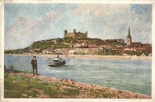 Pozsony, Pressburg, Bratislava; vár. Művészlevelezőlap Hausner H. 7031/5. / castle (EK)