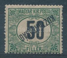 1919 Köztársaság Portó 50f fordított felülnyomással (20.000)