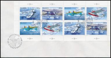 Stamp Day minisheet on FDC, Bélyegnap kisív FDC-n