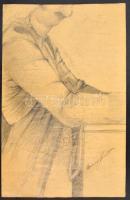 Barcsay jelzéssel: Torzó. Ceruza, papír, 57×36 cm
