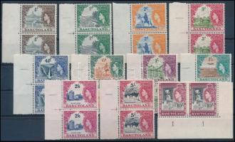 Elizabeth II set in margin and corner pairs, II. Erzsébet brit királynő sor ívszéli és ívsarki párokban