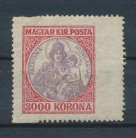 1921 Koronás Madonna látványosan szélesre fogazott 3000K bélyeg