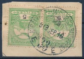 KIRÁLYHÁZA - MISKOLCZ - BUDAPEST vasúti bélyegzés
