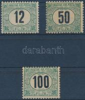 1905 Zöldportó ,,A 12f, 50f, 100f (29.000)