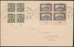 1920.jan.18. Kolozsvári megszállási bélyegekkel bérmentesített távolsági levél. Dr. Szalay, a legmagasabb szaktekintély levele! NAGY-SZEBEN - Vízakna,