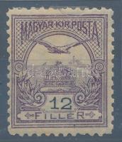 1900 Turul 12f, felül kis beszakadás, de javítva! 11 1/2 sorfogazással (55.000)