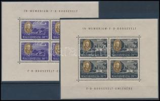 1947 Roosevelt kisívsor, szép állapotban (90.000) / Mi 985-992 mini sheets, nice condition