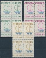 Europa CEPT sor négyestömbökben, Europe CEPT set blocks of 4