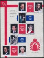 Prince William and Kate Middleton's wedding minisheet, Vilmos herceg és Katalin hercegnő házassága kisív