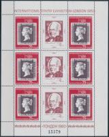 Internationale stamp exhibition minisheet, Nemzetközi bélyegkiállítás, London kisív