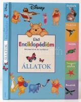 Első enciklopédiám Micimackóval és barátaival - Állatok. Bp.,2007, Egmont. Kiadói keménykötés, a címlapra és a hátsó szennylapra matricákat ragasztottak, a címlapot követő két oldalon firka.