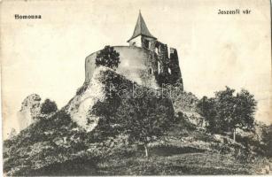 Várjeszenő, Jeszenő, Jasenov (Homonna); vár. Waller Mór kiadása / castle (szakadás / tear)