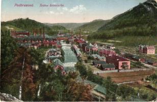 Zólyombrézó, Podbrezová; vasgyár / iron works, factory (EK)