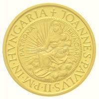 1991. 10.000Ft Au II. János Pál pápa látogatása tanúsítvánnyal, tokban (7g/0.986) T:PP Hungary 1991. 10.000 Forint Au Visit of Pope John Paul II with certificate, in case (7g/0.986) C:PP Adamo EM121