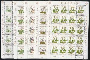 1980 Növény kisívsor, Plants minisheet set Mi 48-52