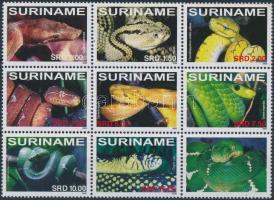 2008 Kígyó 9es tömb, Snake block of 9 Mi 2221-2228