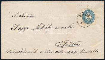 ~1865 10kr on cover ,,KALOCSA
