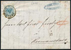 "9kr MP III on cover ,,DEBRECZIN"" - ,,HERMANNSTADT"", 9kr MP III levélen ,,DEBRECZIN"" - ,,HERMANNSTADT"""