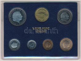 Hollandia 1980. 1c-2 1/2G (6xklf), forgalmi szett tokban, pénzverdei zsetonnal T:PP Netherlands 1980. 1 Cent - 2 1/2 Gulden (6xdiff), coin set in case and Coin Mint jeton C:PP