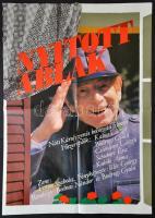 1988 Illés János (?-): Nyitott ablak, magyar film plakát, főszerepben: Kabos László, Bodrogi Gyula, hajtott, 81x56 cm