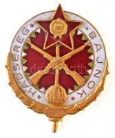 ~1960-1970. Hadsereg Bajnok aranyozott, zománcozott jelvény T:2