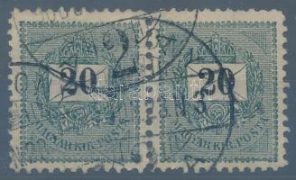 1899 20kr pár III. vízjel jól beazonosítható, 11 1/2 fogazással, valódi ritkaság (160.000+++)