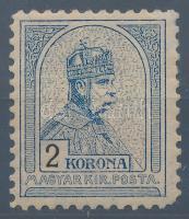 1904 Turul 2K 11 1/2 fogazással (900.000) (jobb alsó sarok tompa fogazással, a sorfogazás jellegzetessége)