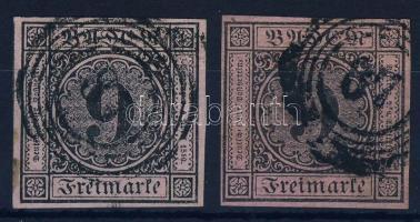 1851 Forgalmi bélyegek Mi 4 a+b
