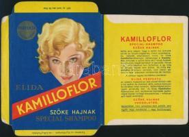 cca 1940 Kamilloflor sampon hajtatlan doboza. 24x16 cm